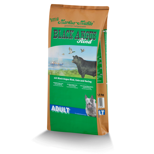 Markus-Mühle BLACK ANGUS Adult - Hundetrockenfutter für erwachsende Hunde